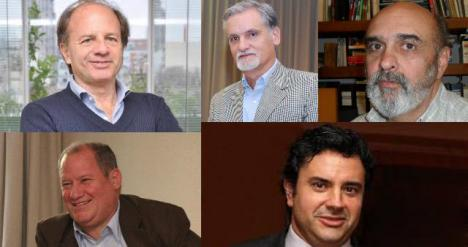 Arriba de Izq a Der: Damián Tabakman; Gustavo Llambías y Nestor Magariños. Abajo, de Izq a Der: Darío López y Gervasio Ruiz de Gopegui.