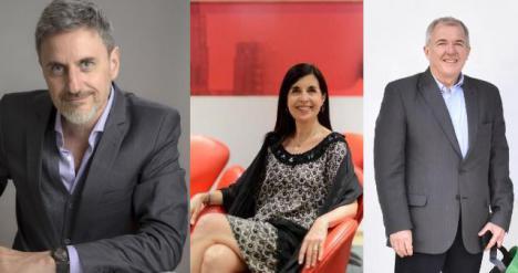 Gerardo Azcuy, María Laura Calle y Ángel Seggiaro.